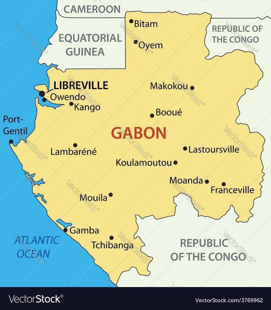 Gabon - gabonese republic - map vector | Price: 1 Credit (USD $1)
