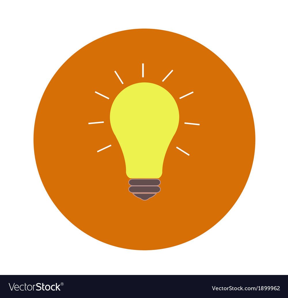 Lightbulb idea vector | Price: 1 Credit (USD $1)