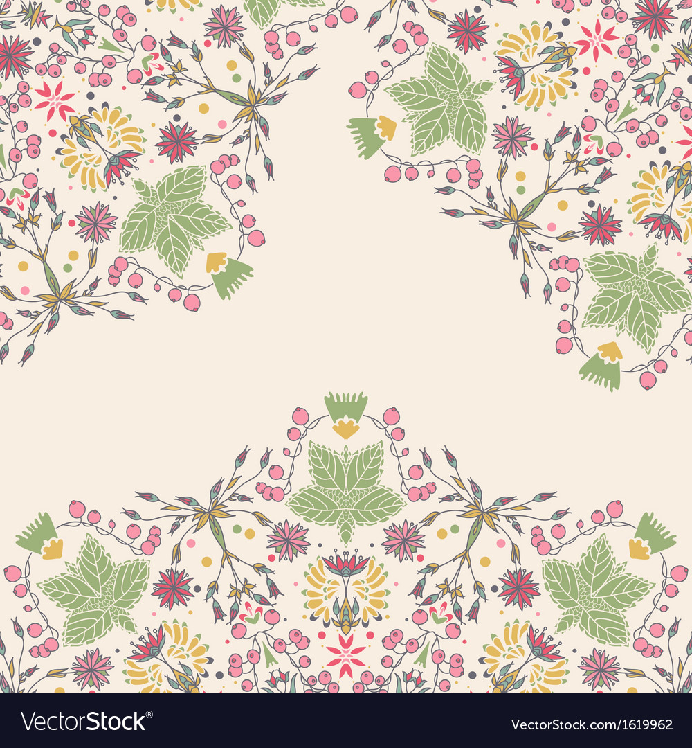Ornamental floral card vector | Price: 1 Credit (USD $1)