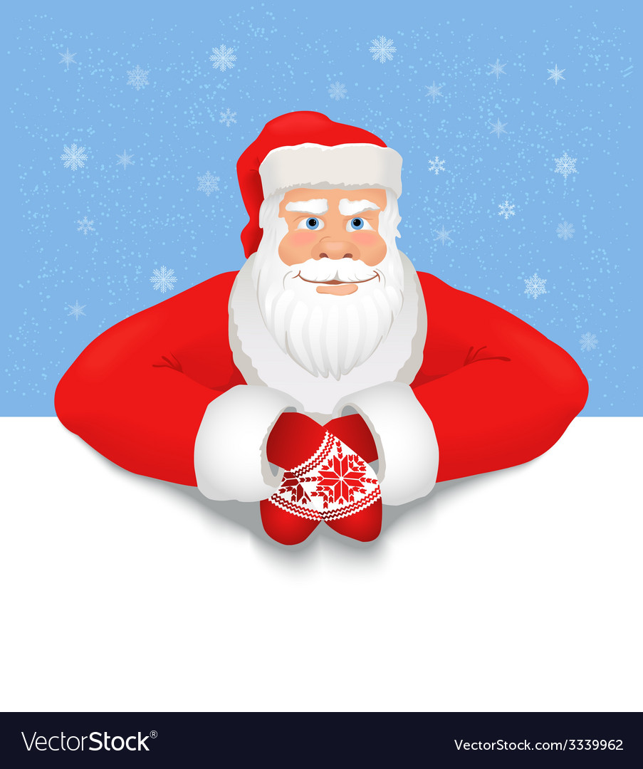 Santa claus copy space vector | Price: 1 Credit (USD $1)