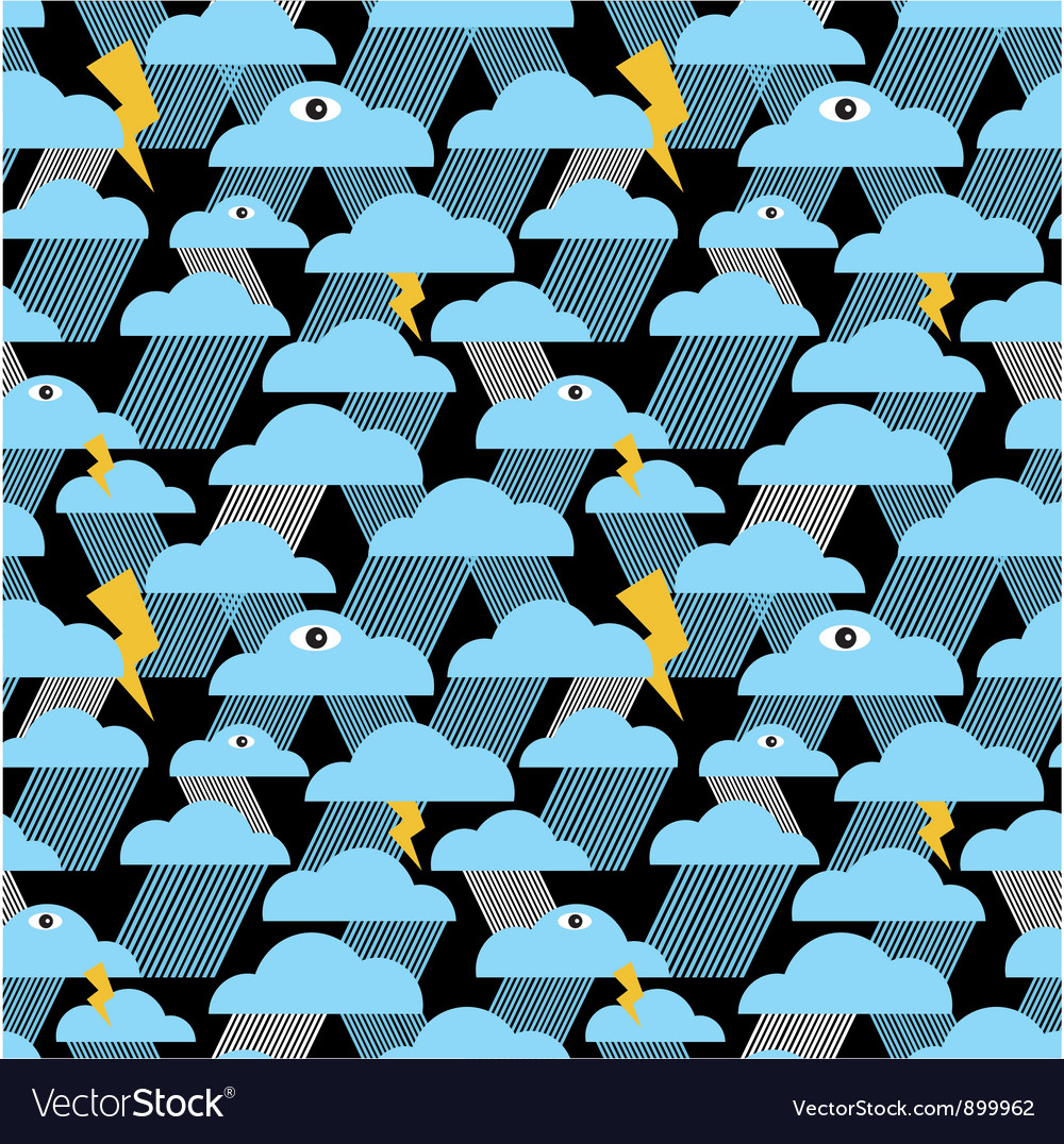 Thunder clouds pattern vector | Price: 1 Credit (USD $1)