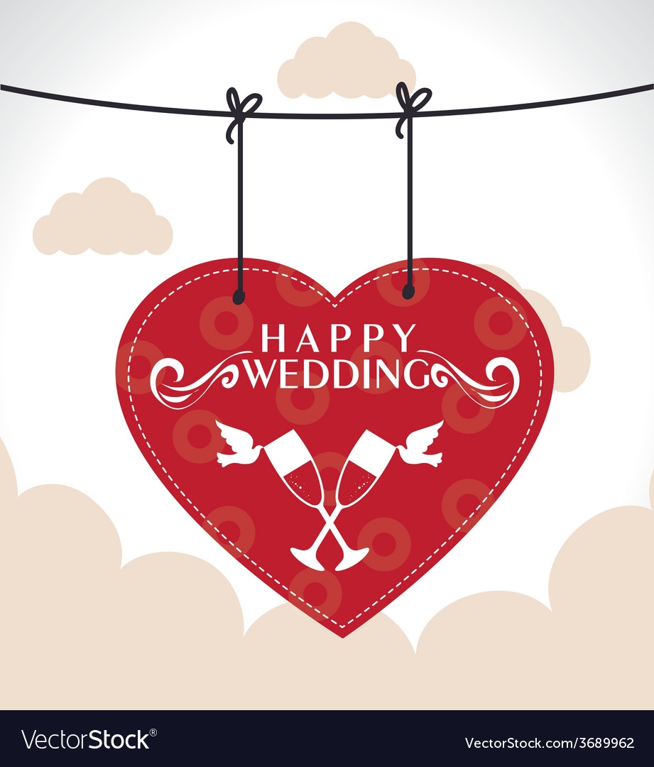 Wedding design over cloudscape background vector | Price: 1 Credit (USD $1)