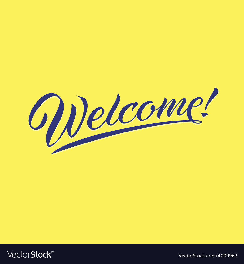 Welcome lettering typography vector | Price: 1 Credit (USD $1)