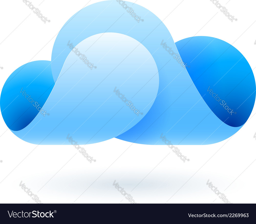 Abstract blue cloud vector | Price: 1 Credit (USD $1)