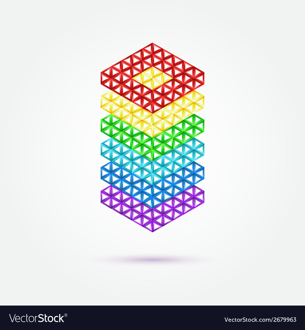 Abstract geometric shape - rainbow icon vector | Price: 1 Credit (USD $1)