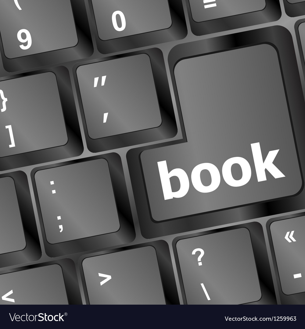 Book button on computer keyboard vector | Price: 1 Credit (USD $1)