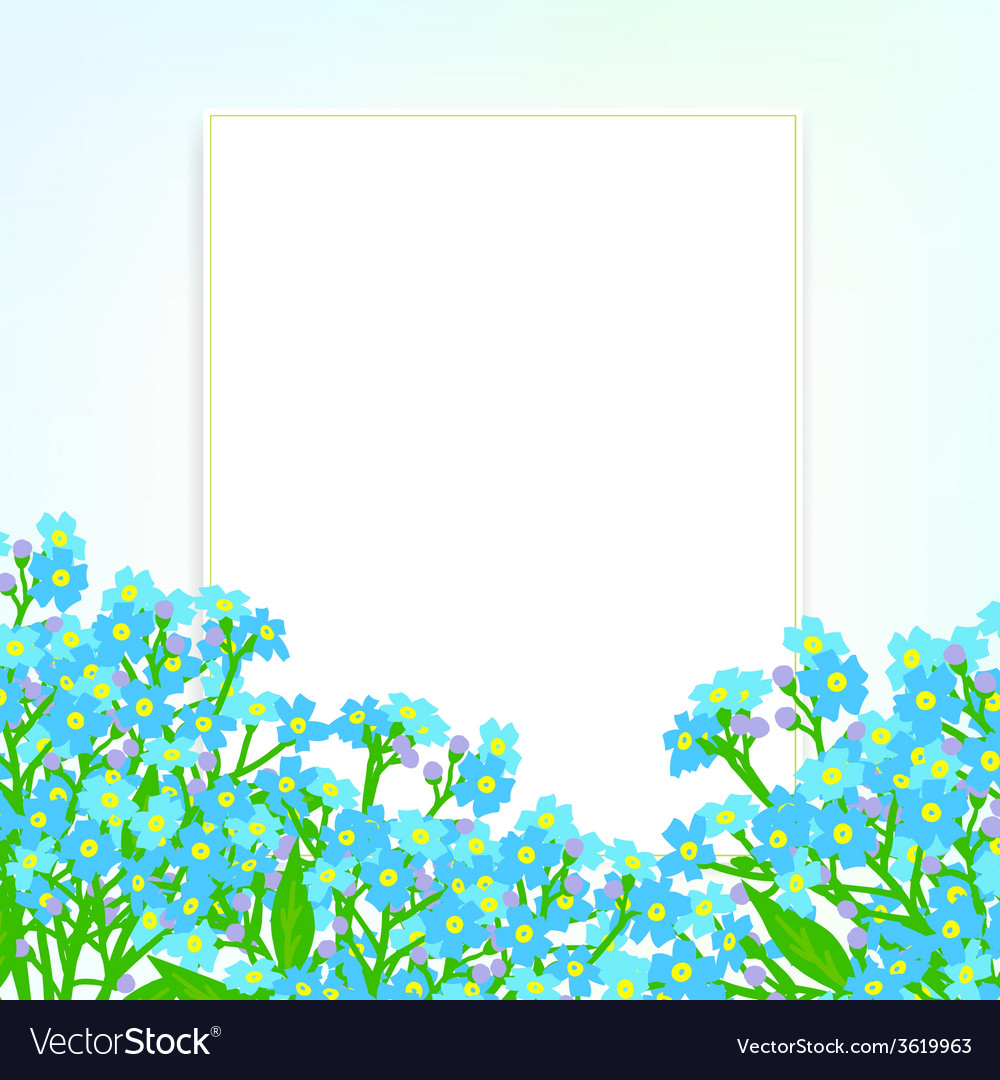 Card with small blue flowers vector   Price: 1 Credit (USD $1)