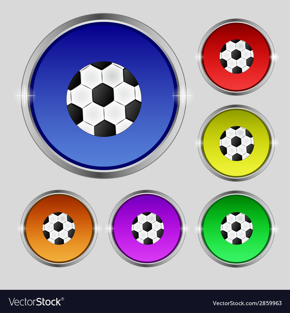 Football ball sign icon soccer sport symbol set vector | Price: 1 Credit (USD $1)