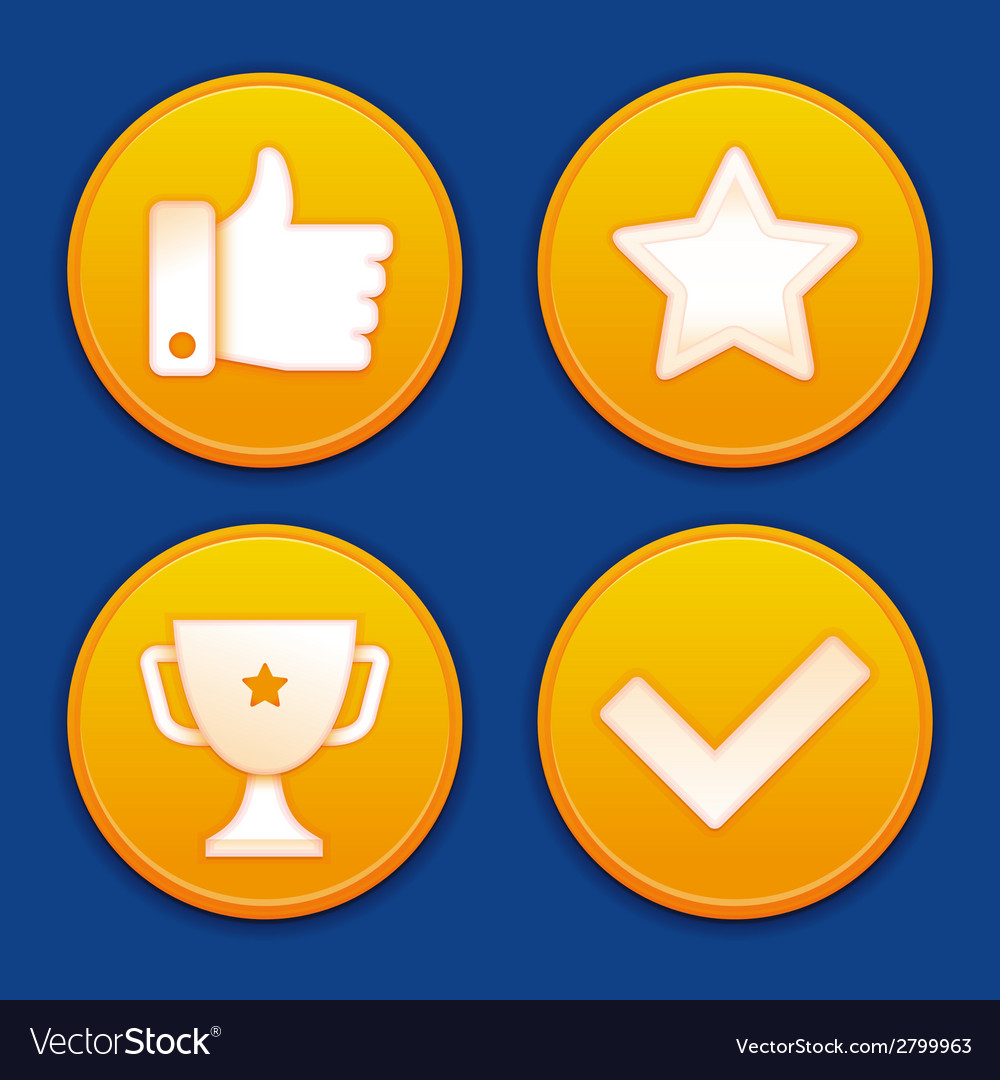 Golden gamification badges vector | Price: 1 Credit (USD $1)