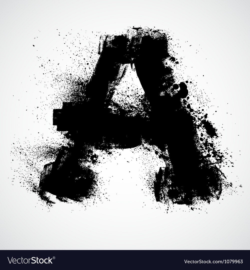 Grunge letter - alphabet symbol design vector | Price: 1 Credit (USD $1)