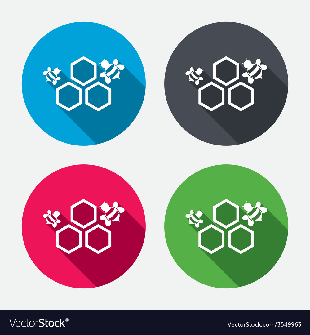 Honeycomb sign icon honey cells symbol vector   Price: 1 Credit (USD $1)