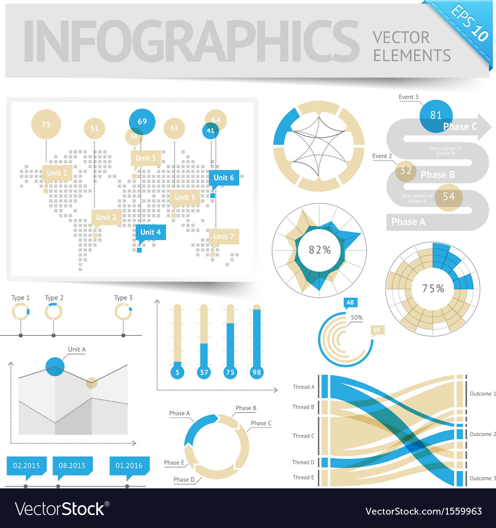 Infographic design elements vector | Price: 1 Credit (USD $1)