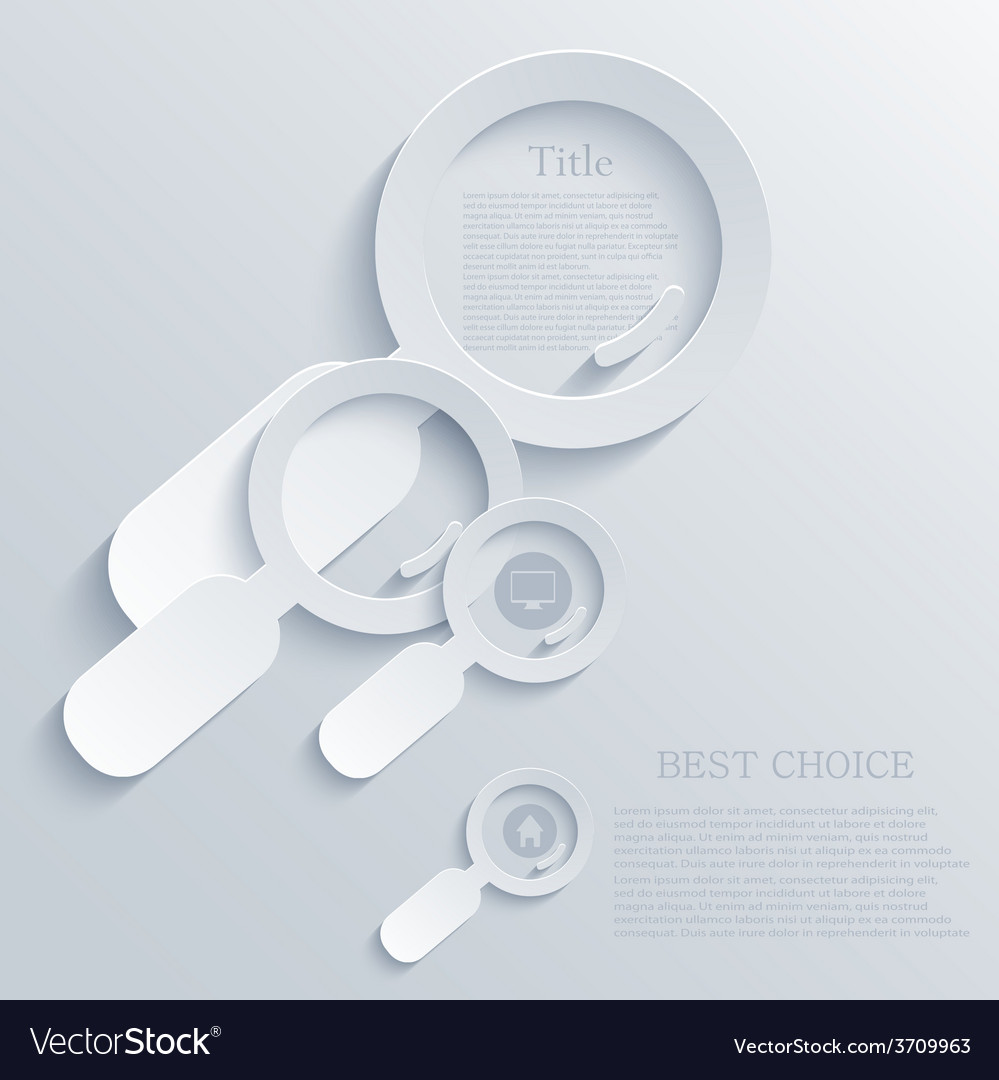 Modern magnifying glass light background vector | Price: 1 Credit (USD $1)