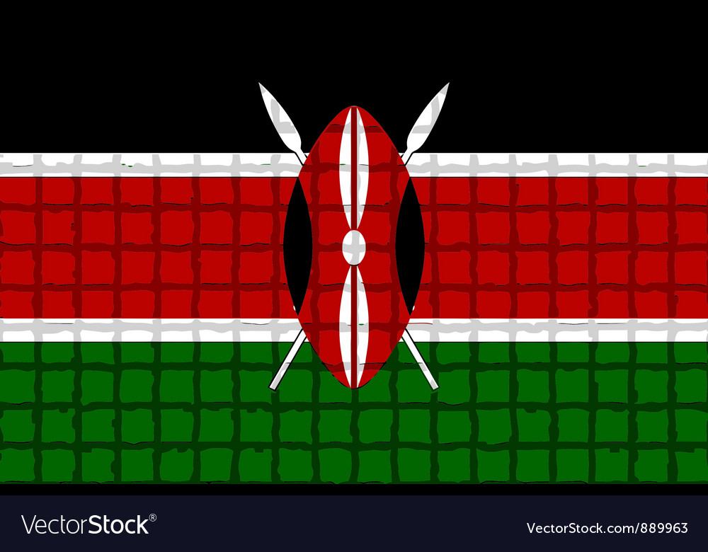 The mosaic flag of kenya vector | Price: 1 Credit (USD $1)