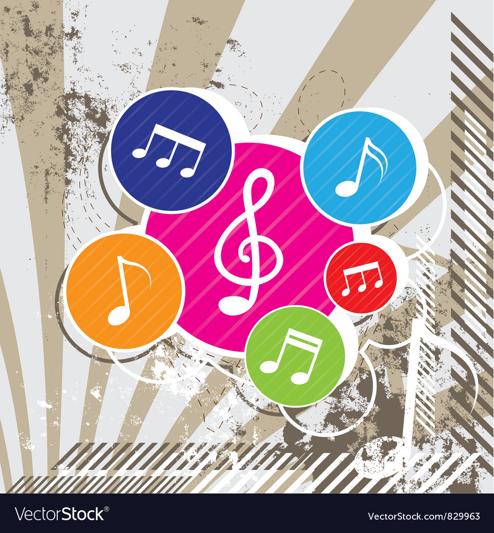 Music festival on grunge vector | Price: 1 Credit (USD $1)