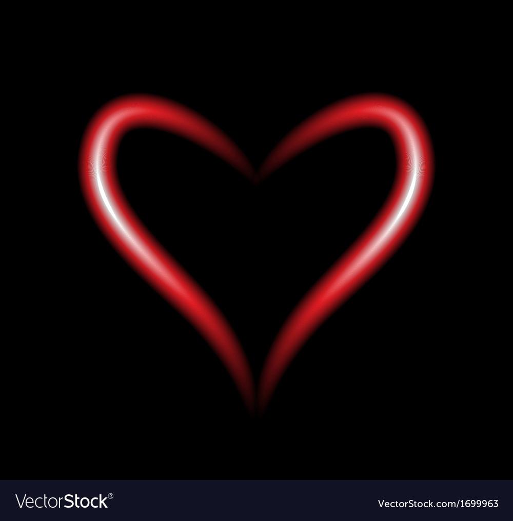 Neon heart vector | Price: 1 Credit (USD $1)