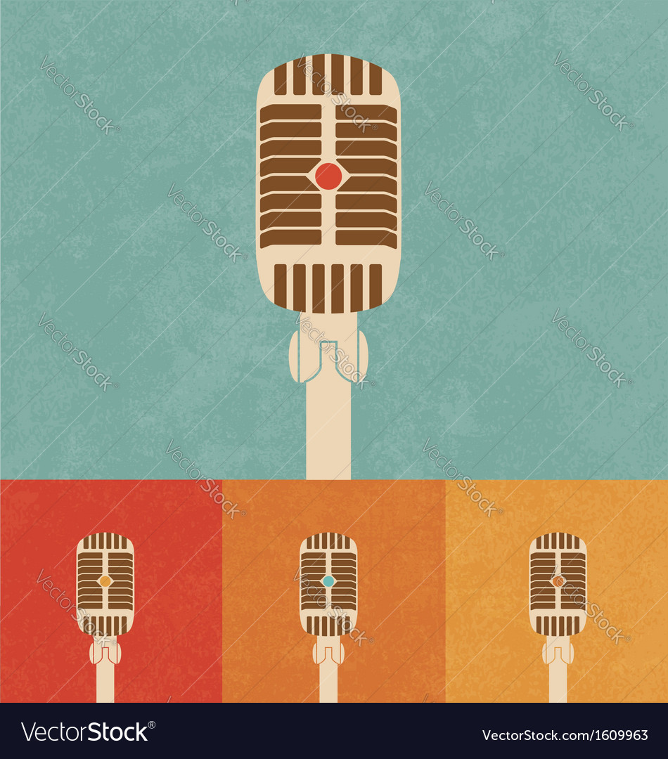 Retro microphone vector | Price: 1 Credit (USD $1)