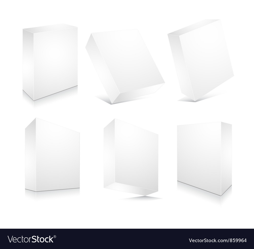 Blank 3d boxes set vector | Price: 1 Credit (USD $1)