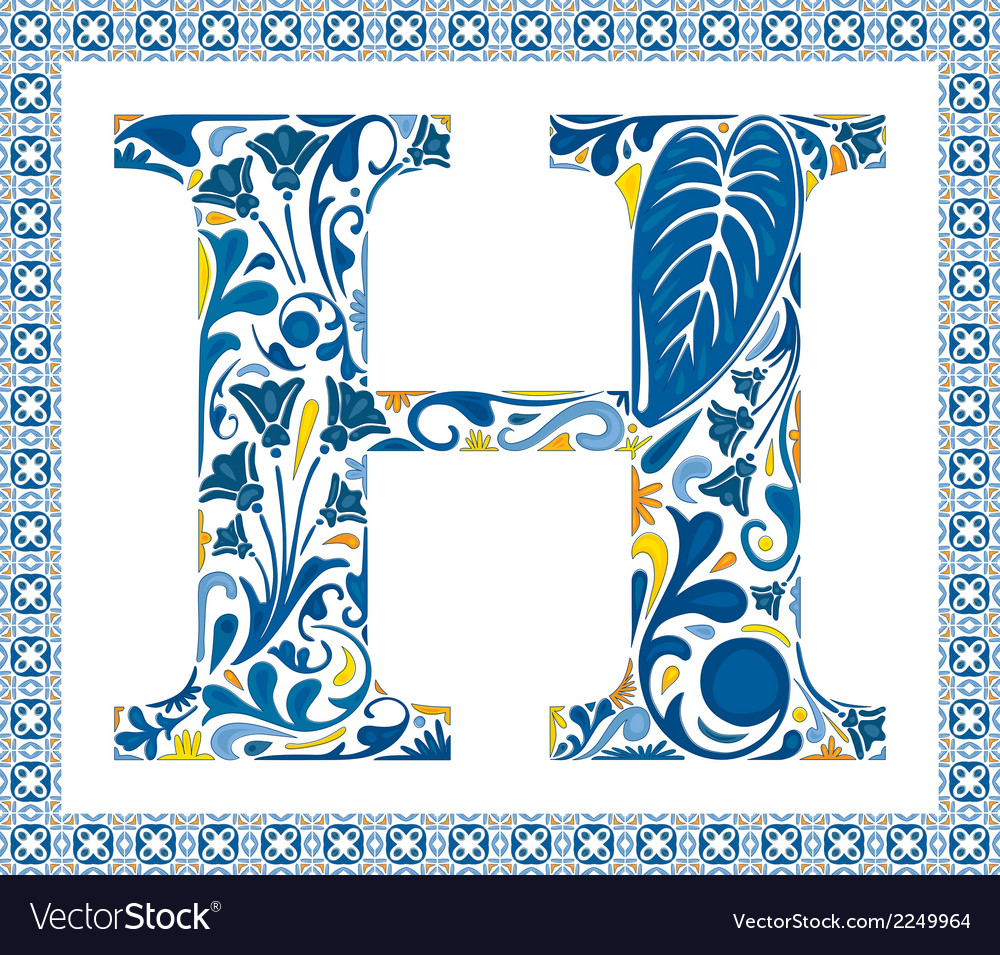 Blue letter h vector | Price: 1 Credit (USD $1)