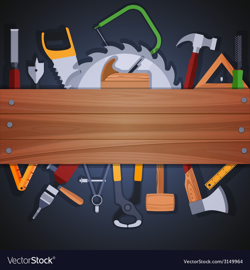Carpentry tools background vector | Price: 1 Credit (USD $1)