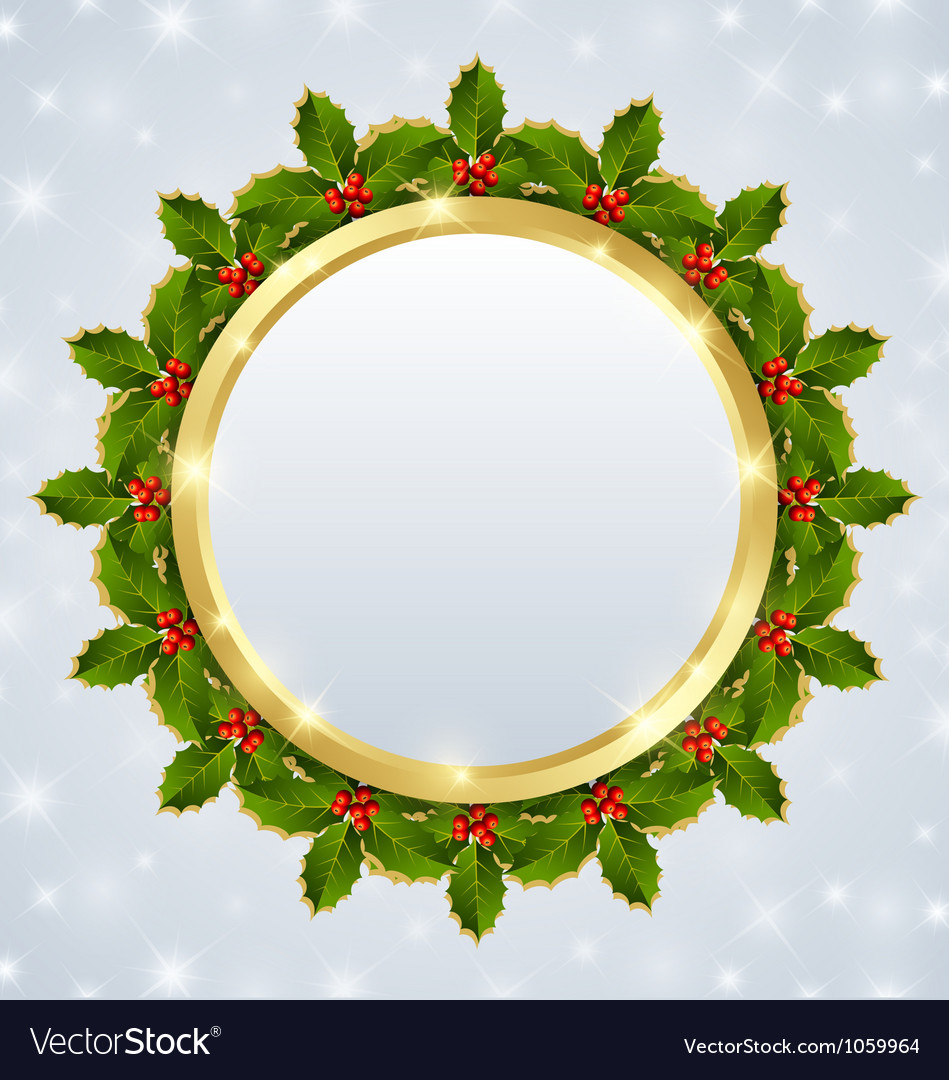Christmas plaque vector | Price: 1 Credit (USD $1)