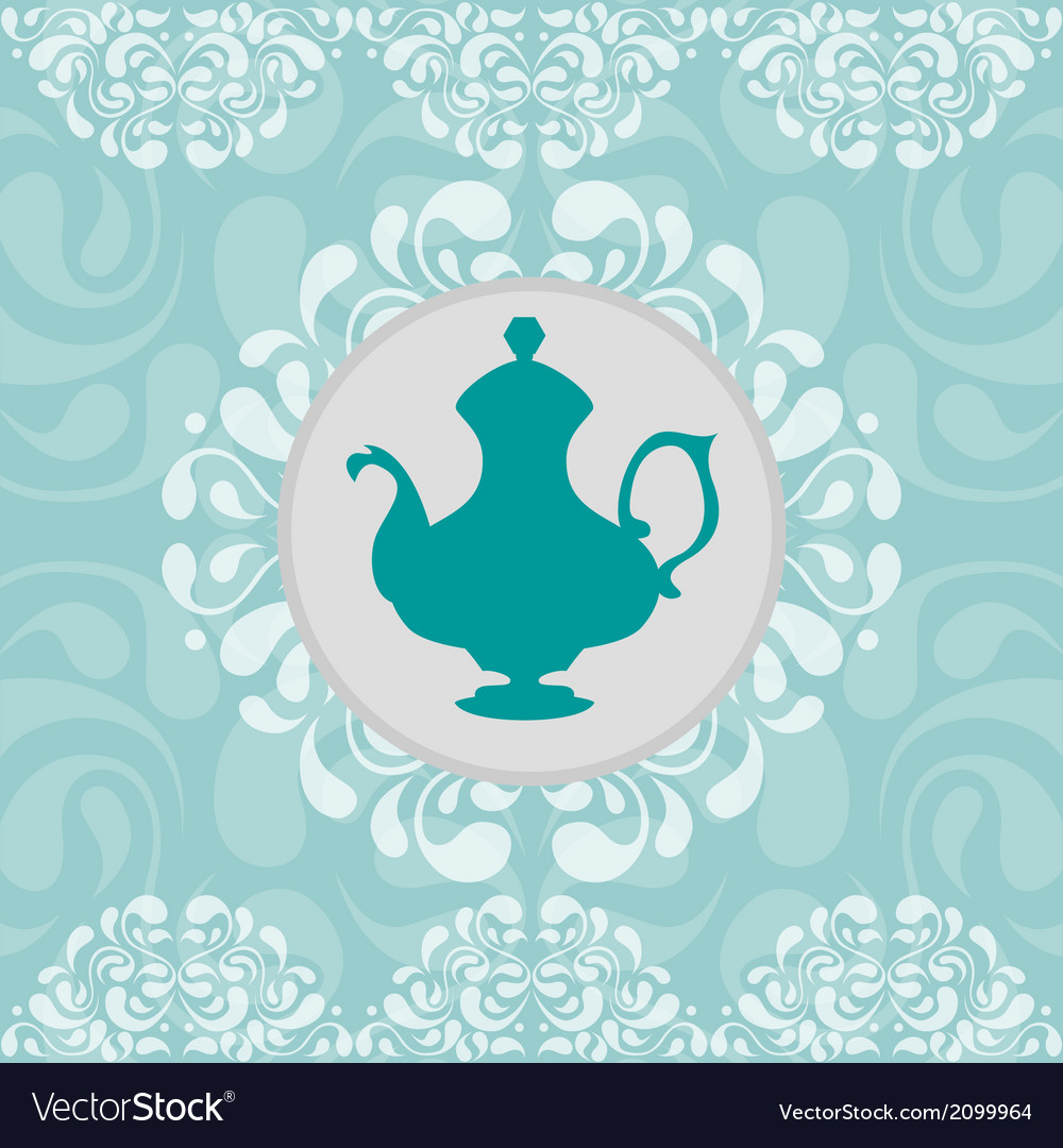 Coffeepot vignette vector | Price: 1 Credit (USD $1)