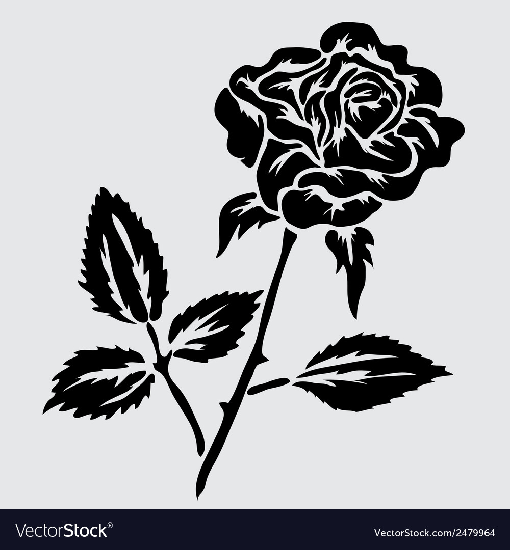 Decorative rose vector | Price: 1 Credit (USD $1)