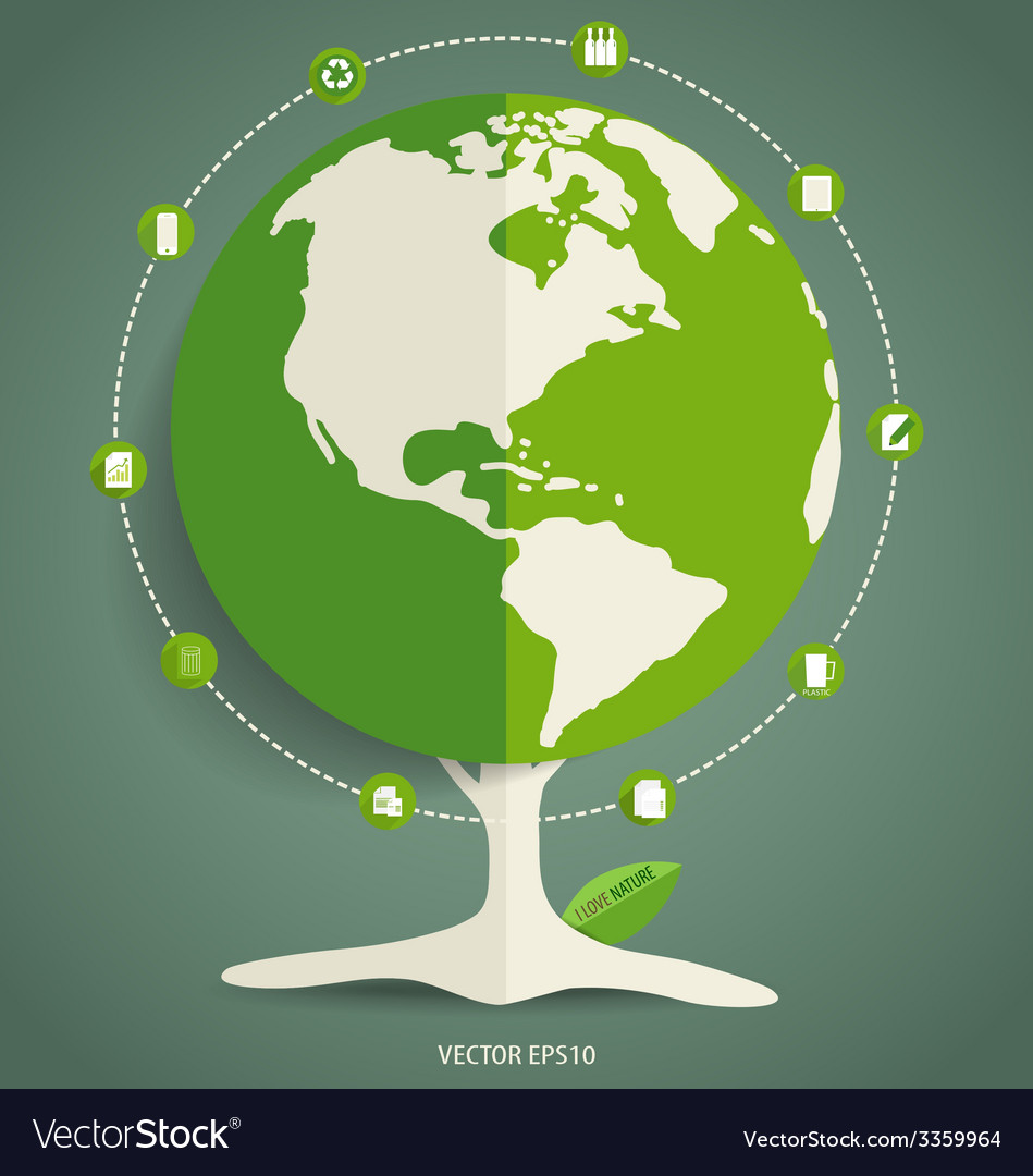Ecology infographics design elements vector   Price: 1 Credit (USD $1)