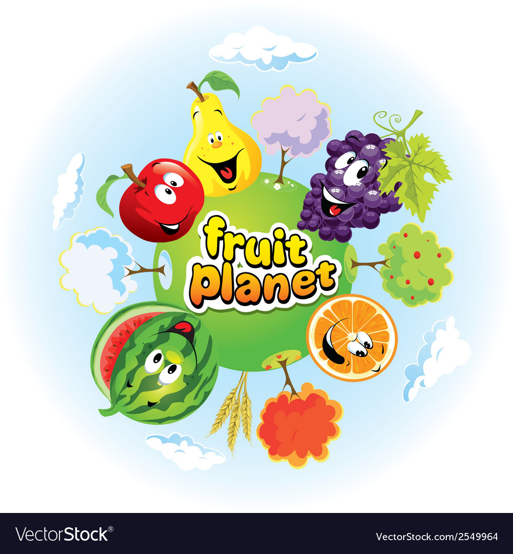 Fruit planet vector | Price: 1 Credit (USD $1)