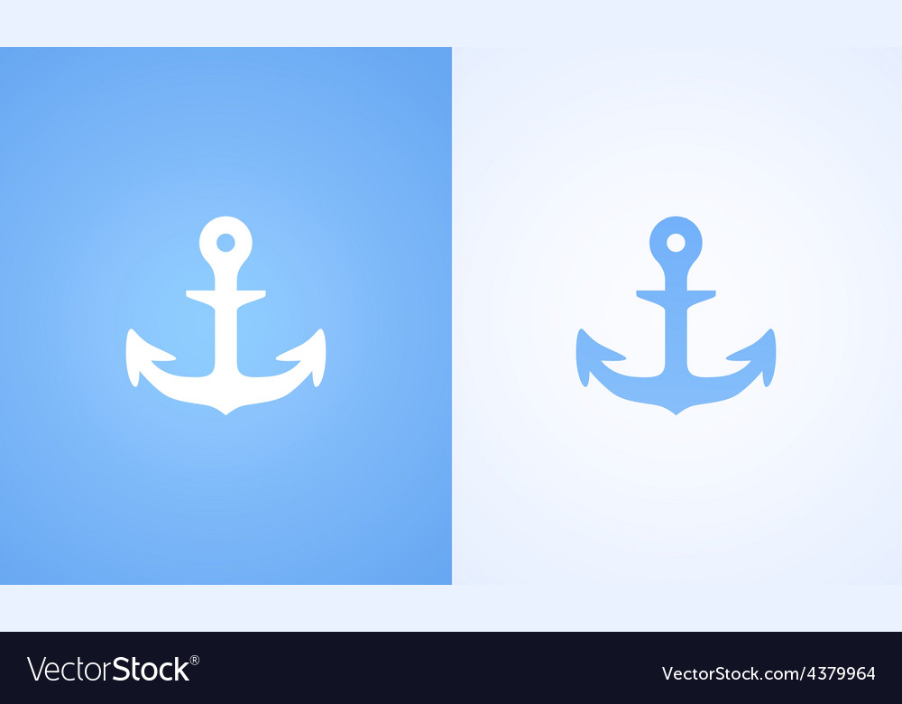Icon with iron anchor vector | Price: 1 Credit (USD $1)