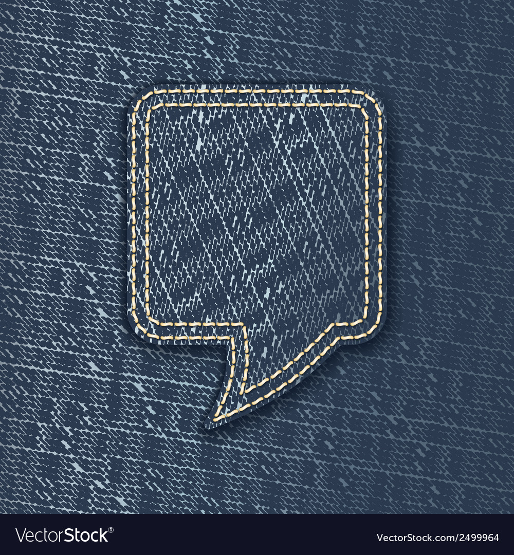 Jeans textured speech bubble vector | Price: 1 Credit (USD $1)