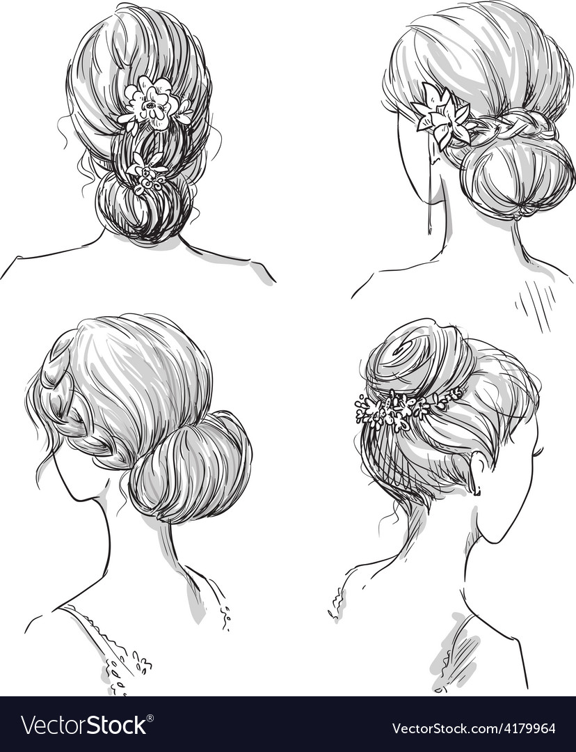 Set of hairstyles vector | Price: 1 Credit (USD $1)