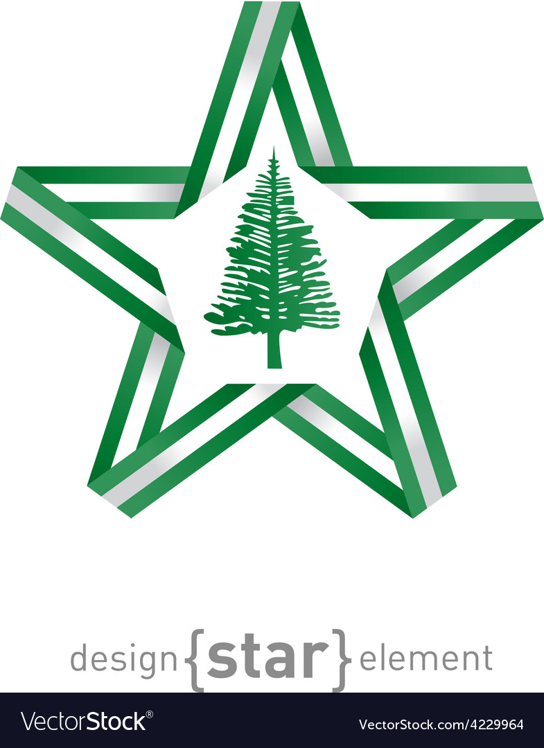 Star with flag of norfolk island colors and vector   Price: 1 Credit (USD $1)