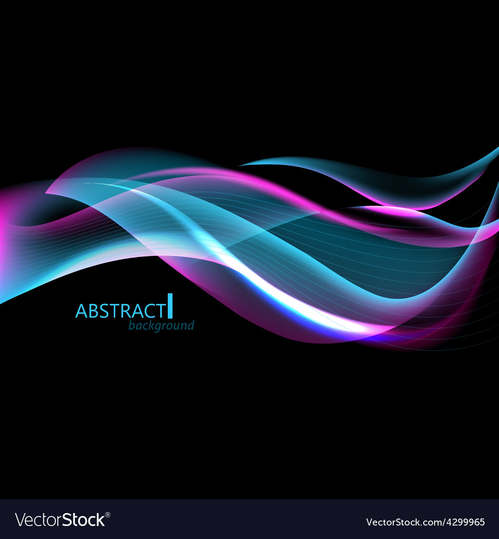 Abctract hi-tech background with waves for screen vector | Price: 1 Credit (USD $1)