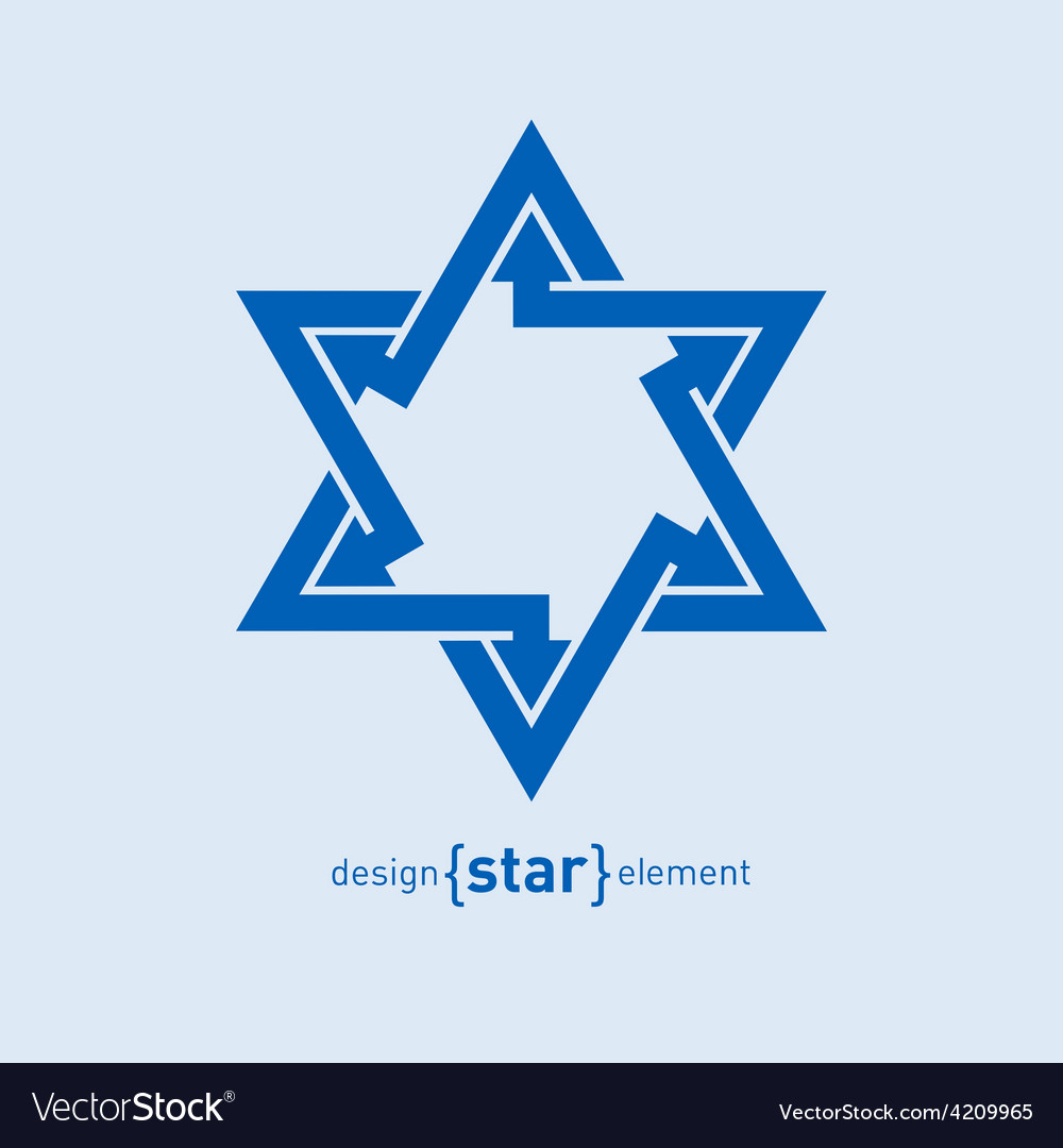 Abstract design element blue star vector | Price: 1 Credit (USD $1)