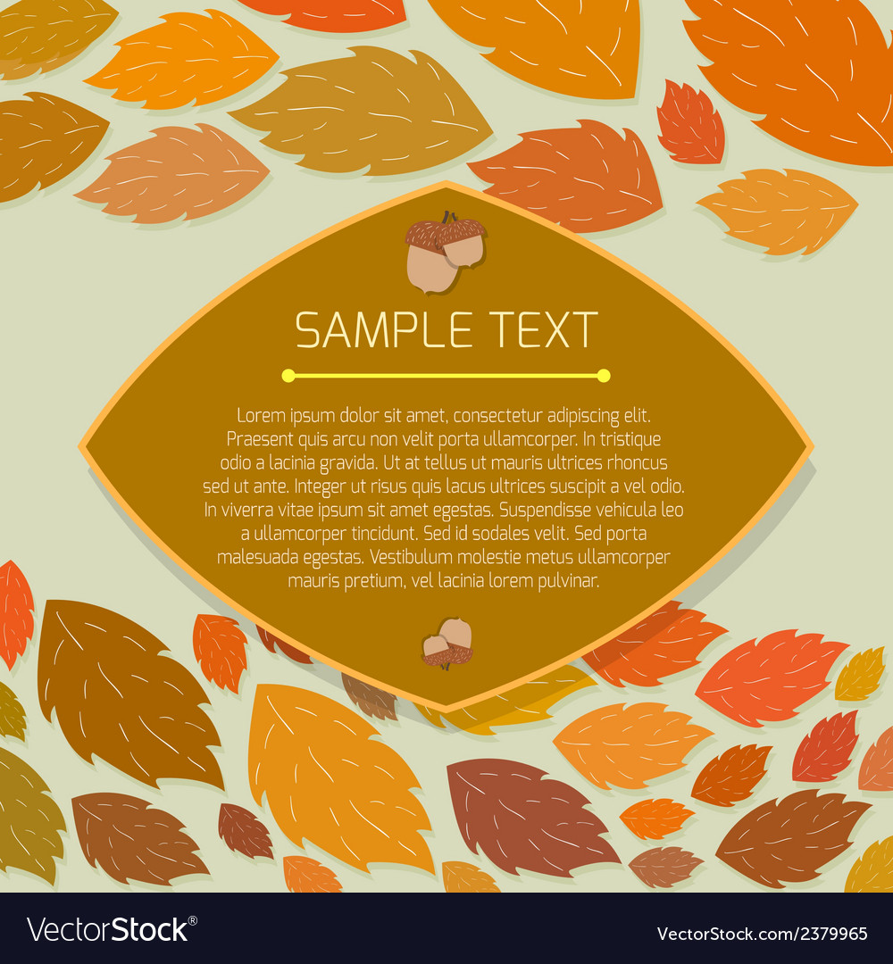 Autumn thanksgiving frame with copyspace vector | Price: 1 Credit (USD $1)