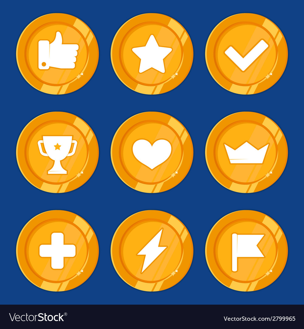 Cartoon gamification badges vector | Price: 1 Credit (USD $1)