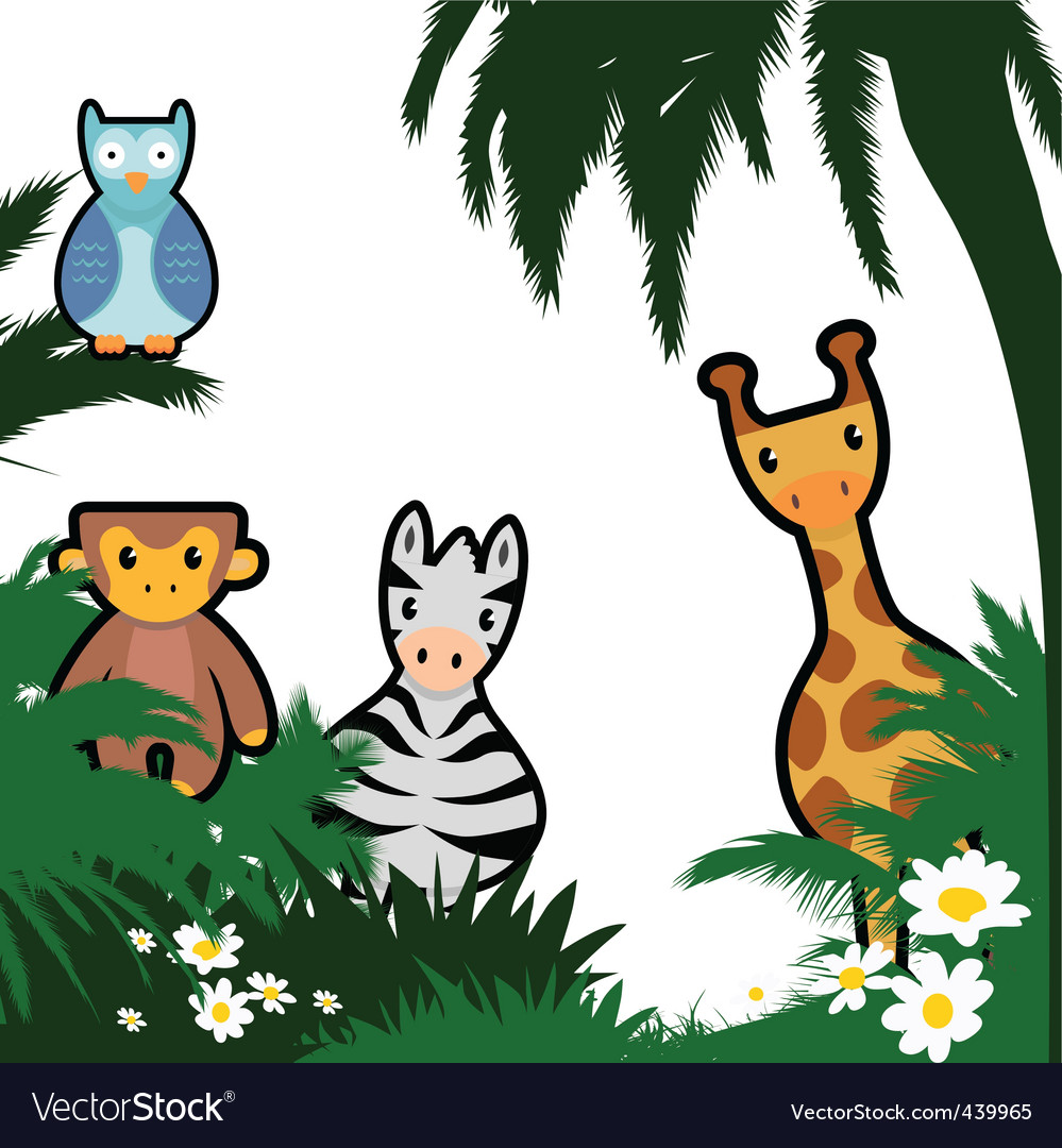 Cartoon wildlife vector | Price: 1 Credit (USD $1)