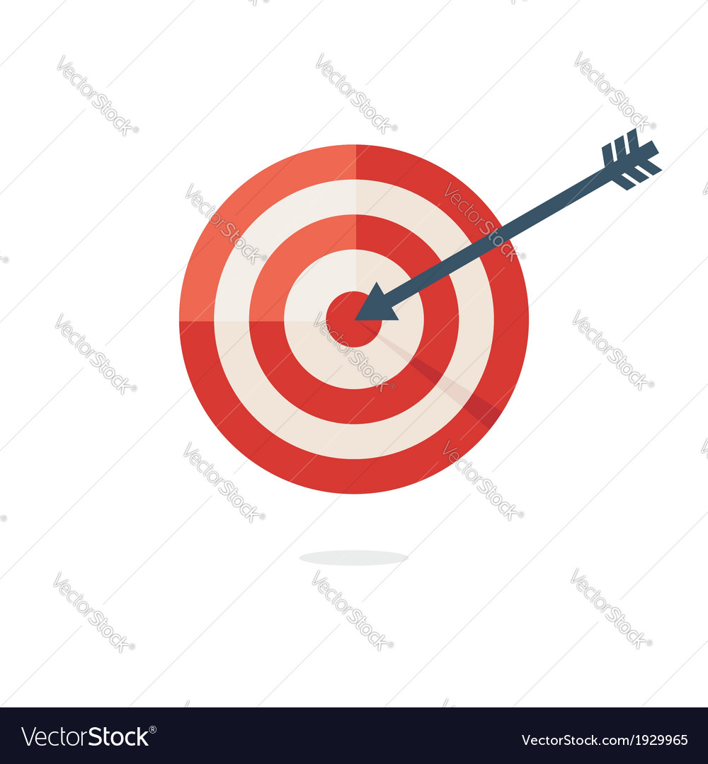 Darts target aim vector | Price: 1 Credit (USD $1)
