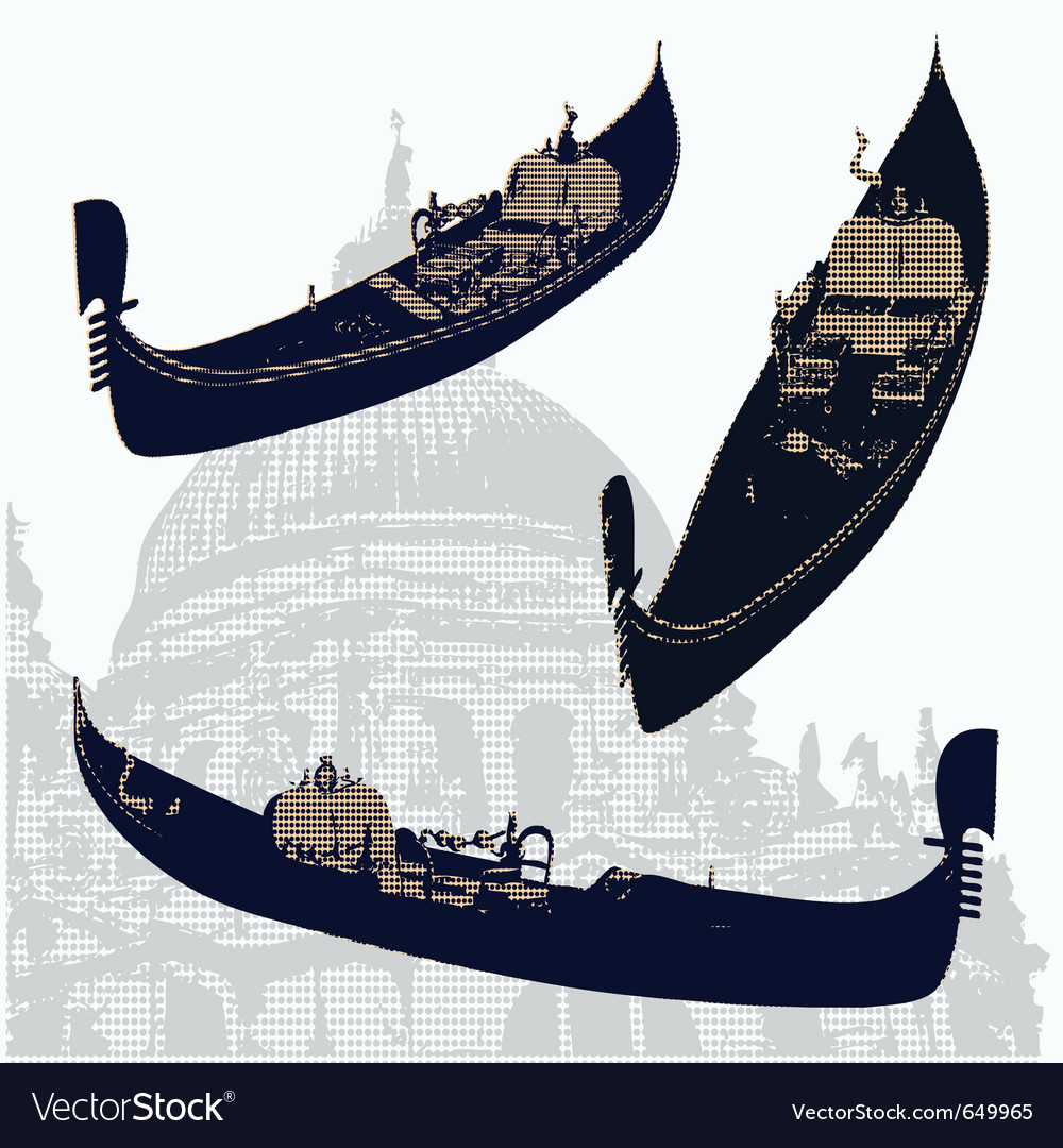 Gondolas vector | Price: 1 Credit (USD $1)