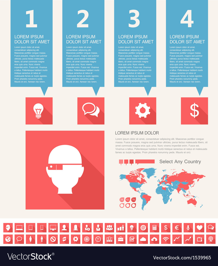 It industry infographic elements vector | Price: 1 Credit (USD $1)