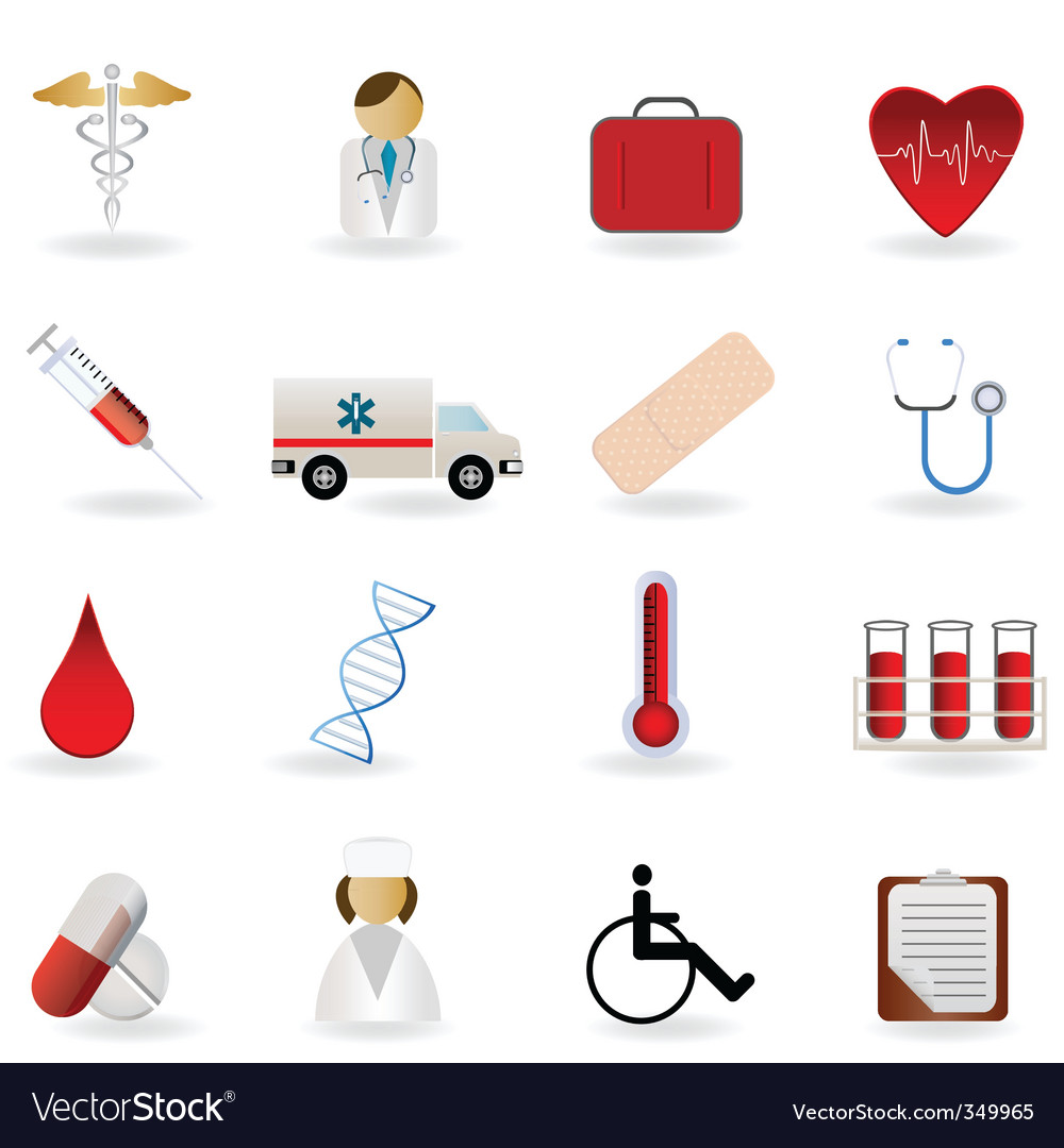 Medical icons vector | Price: 1 Credit (USD $1)
