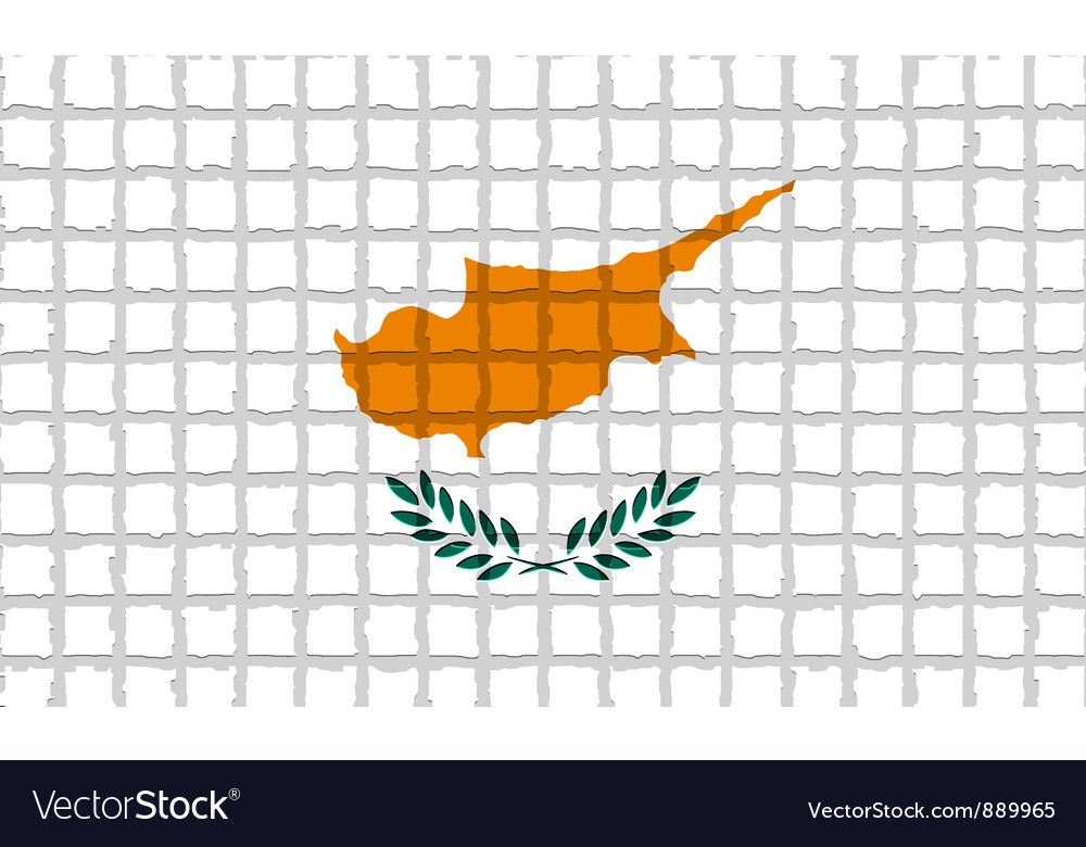 The mosaic flag of cyprus vector | Price: 1 Credit (USD $1)