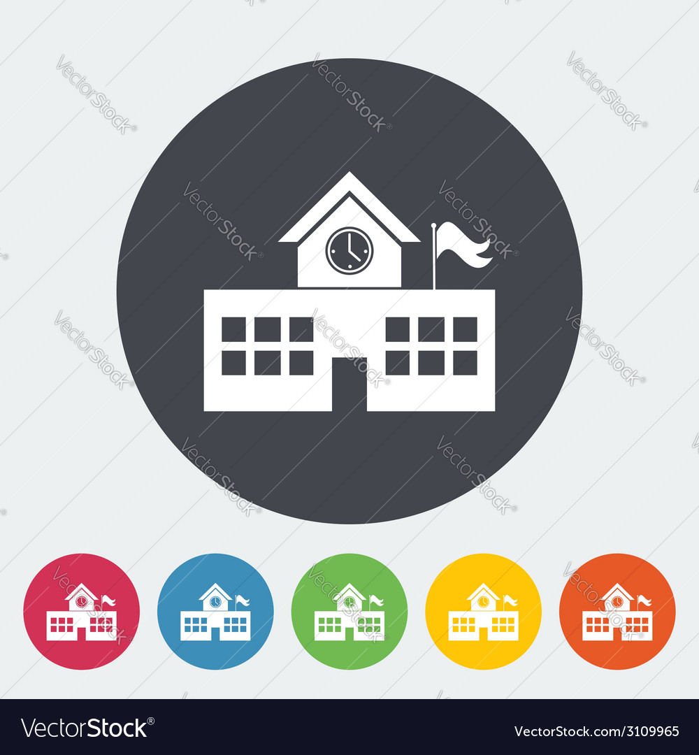 School building vector | Price: 1 Credit (USD $1)