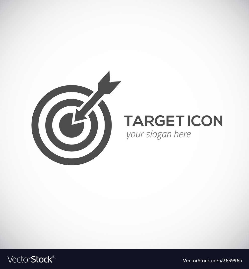 Target icon logo concept vector | Price: 1 Credit (USD $1)