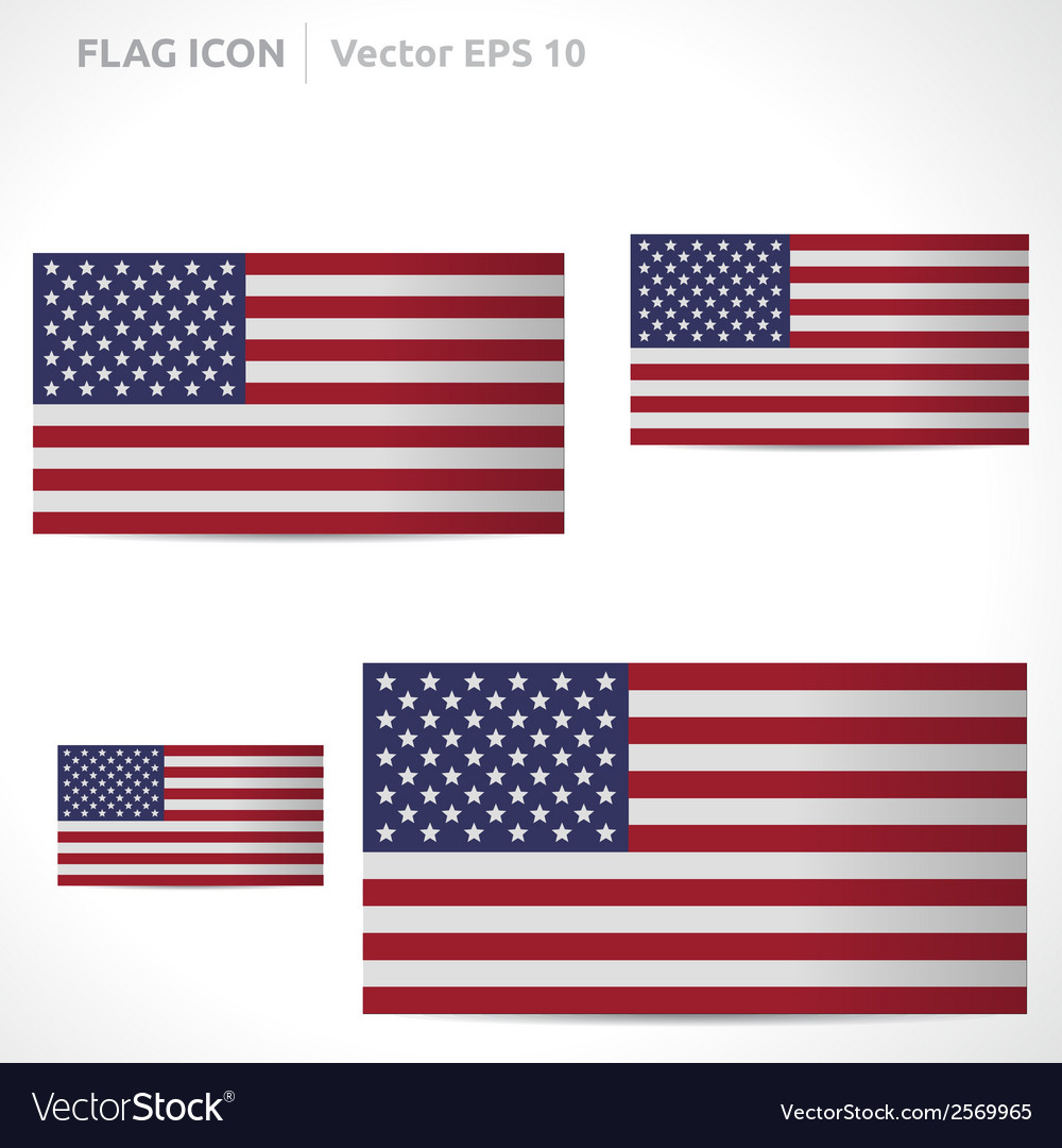 United states flag template vector | Price: 1 Credit (USD $1)