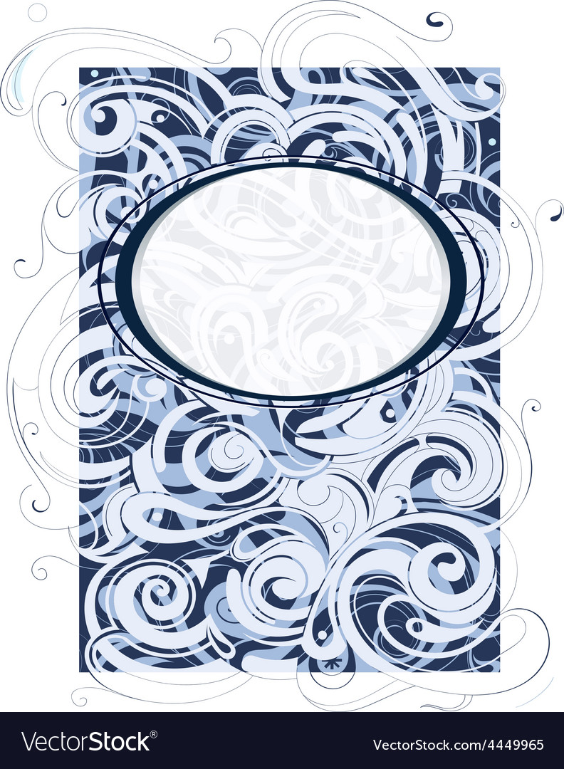 Water and wind swirls ornament vector | Price: 1 Credit (USD $1)