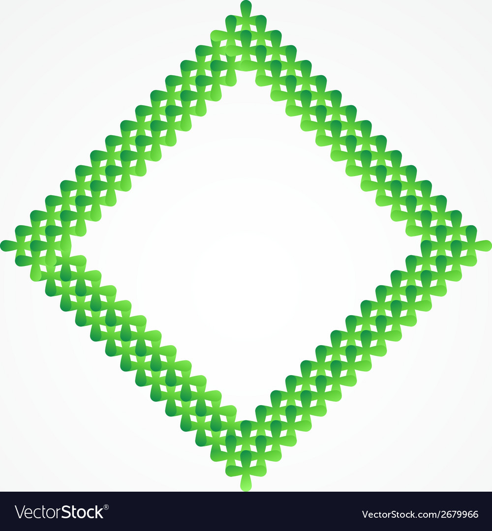 Abstract symbol made of many green crosses vector | Price: 1 Credit (USD $1)