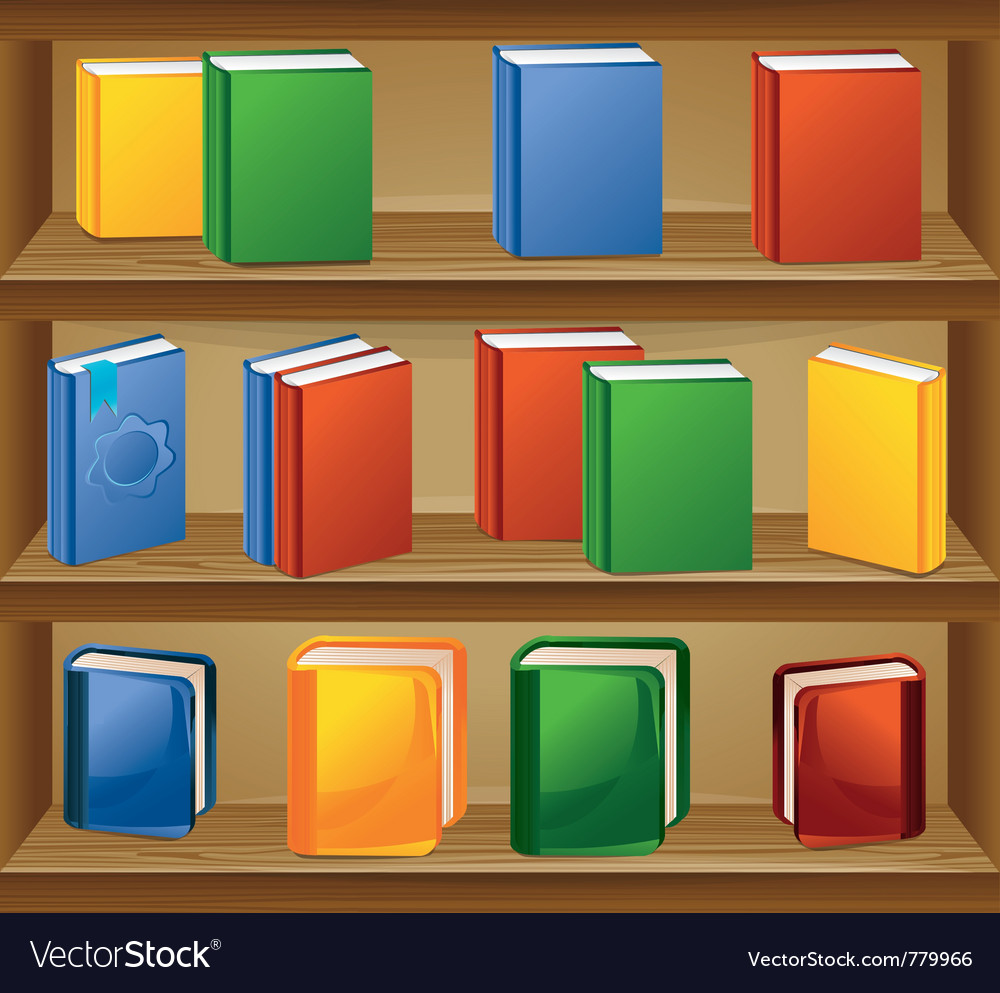 Book shelf vector | Price: 3 Credit (USD $3)