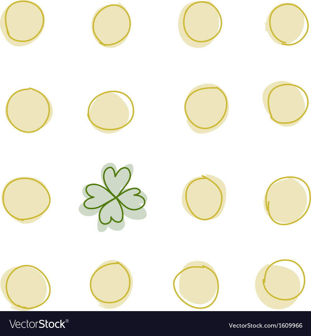Coins and a 4 leaf clover vector   Price: 1 Credit (USD $1)